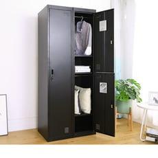 【Amos】質感黑砂雙層居家衣櫃/辦公衣櫃