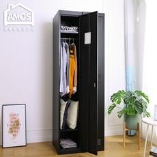 【Amos】質感黑砂單門居家衣櫃/辦公衣櫃