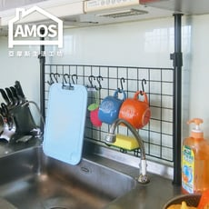 【Amos】台灣製75*35頂天立地網片置物架