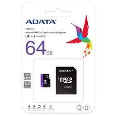 神腦公司貨終身保固 威剛 ADATA Micro SDHC 64G 記憶卡 UHS-I U1/C10