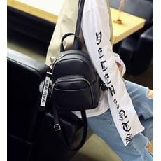 荔枝紋 雙肩包 純色 背包 小包包(U01)