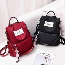新款防水書包 女韓版 女學生 兩用 旅行包包 女士大容量背包 書包 後背包 側背包 雙肩包