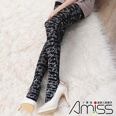 AMISS 狠腳色印花造型褲襪-公主風