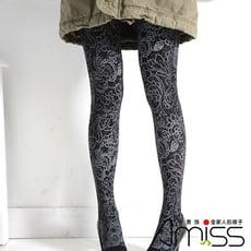 AMISS 狠腳色印花造型褲襪-個性塗鴉