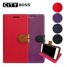 CITY BOSS 撞色混搭 6.5吋 Samsung Galaxy A51 三星 手機套 側掀磁扣
