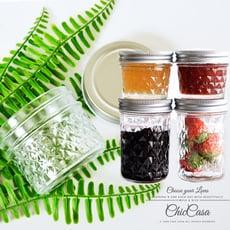 菱格鑽石玻璃梅森密封罐100ml- 收納罐 果醬罐 梅森罐 玻璃瓶 梅森瓶 調味罐