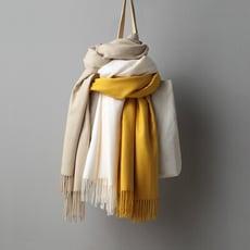2020秋冬純色披肩大圍巾