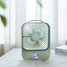 KINYO文青風靜音復古充電風扇