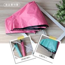 KINYO 21吋三折純色超輕細黑膠傘(二色)