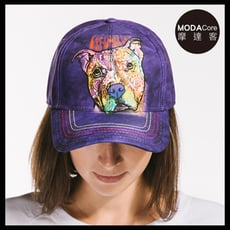 【摩達客】美國進口The Mountain 紐約藝術家DR系列  彩繪注視比特犬 棒球帽/六分割帽
