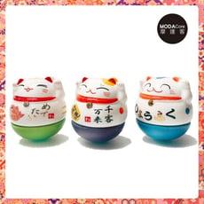 摩達客 農曆新年春節◉迷你不倒翁招財貓陶瓷-開運三入組-擺飾桌飾