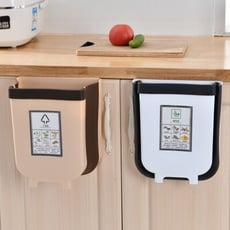 伸縮折疊掛式垃圾桶 家用收納掛式廚餘架【小號】