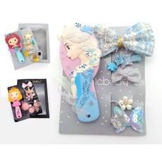 【公主髮飾禮盒】迪士尼女童髮飾禮盒可愛梳子髮飾公主禮盒彌月禮盒冰雪奇緣兒童節禮物學生獎品新年聖誕