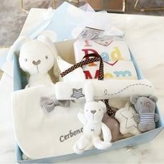 【彌月禮盒】💕男寶女寶新生兒禮盒滿月彌月禮盒周歲禮盒嬰兒包屁衣口水巾床鈴