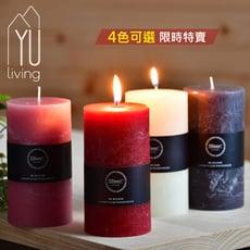 [限時特賣] 歐式經典圓柱蠟燭 420g (M,4色)【YU Living】