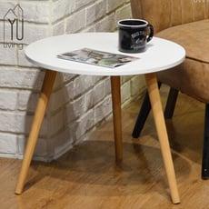 [限時特賣] 北歐風 三腳圓桌/餐桌/休閒桌/桌子/茶几(白色)【YU Living】