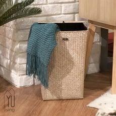 【YU Living】北歐風 手工海草編織洗衣籃/儲物籃/置物籃(連蓋式)