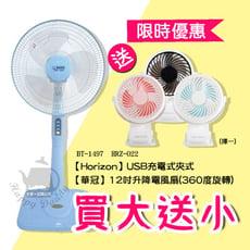 《買大送小》【華冠】台製14吋風扇+隨行小風扇(顏色隨機) BT-1497_HRZ-022