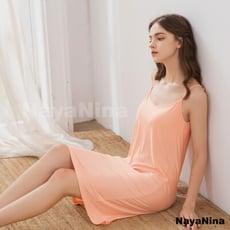 睡衣 居家睡衣 星光密碼【T007-1】日系輕柔涼感無鋼圈罩杯細肩居家服睡衣 (甜粉橘)