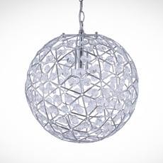 圓形幾何圖案壓克力吊燈