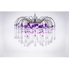 鍍鉻噴泉支架紫色壓克力珠吊燈