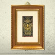黃金畫 故宮精選名畫 清代姚文瀚 無量壽佛 純金畫 開運 可吊掛 收藏送禮居家佈置 店面裝飾 禮贈品