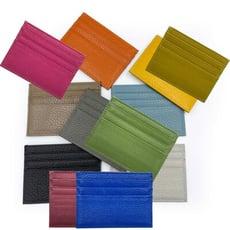 雙面三層牛皮名片夾 卡片夾 信用卡夾 牛皮紋卡夾 (14色可選)
