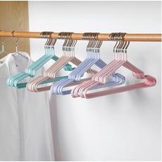 防滑塗層塑料奈米防滑浸塑衣架(顏色隨機)