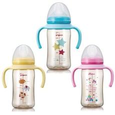 日本 貝親Pigeon 雙把手PPSU彩繪奶瓶240ml(3款可選)