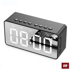 【現貨秒出】藍芽5.0鏡面時鐘音箱重低音無線藍芽喇叭鬧鐘【台灣出貨】【國家認證】【C1-00027】