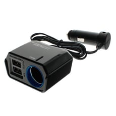 【日本YAC】4.8A雙USB槽+單孔延長插座PZ-789 (自動電壓檢測.充電器)