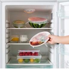 食品級可水洗密封矽膠密封保鮮膜(六件組)