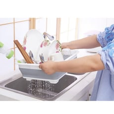 廚房置物架大號碗盤碟瀝水架碗架  折疊碗盤廚具收納架 折疊碗盤瀝水架
