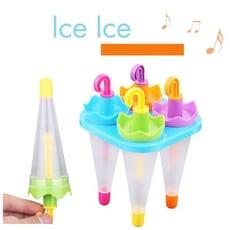創意居家 雨傘造型製冰模具盒 六格雨傘造型冰塊模具 冰棒模型 製冰器