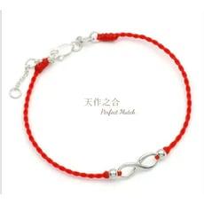 【無限】s925銀飾✖紅線手鍊/腳鍊 (手作系列)