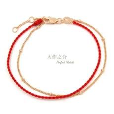 【幸運紅線】s925銀飾✖紅線手鍊 (手作系列) 3色可任選
