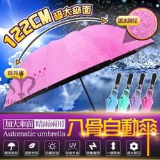 122cm超大傘面 抗UV黑膠自動傘