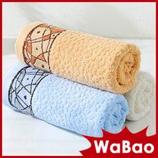 純棉毛巾 洗臉毛巾 洗臉巾(三色任選)(D0E437)