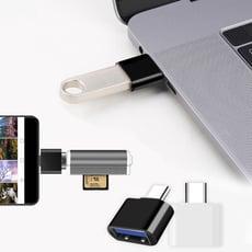 AISURE愛秀王 標準USB to Type-C 轉接頭 USB-A轉TypeC-2入