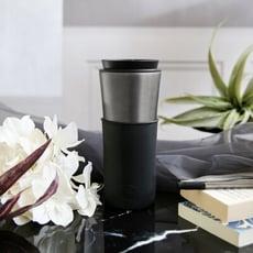 【年度新品|2件88折】美國 HYDY 兩用隨行保溫杯 450ml 鈦灰杯 (午夜黑) 咖啡杯 隨行