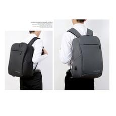 【LIVEGOGO】零負重減壓商務休閒USB後背包,防刮防潑水