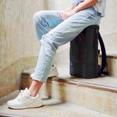 【PackChair】哪裡都能好好坐 台灣製 盾牌椅子包(藍色版)