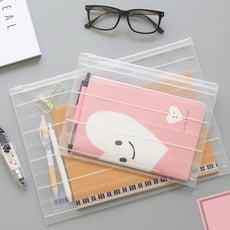 環保透明磨砂文件袋 票據資料檔案袋 夾鏈袋(大號A4)