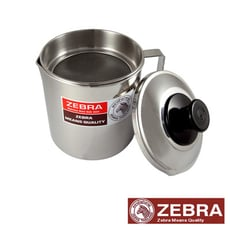 【Zebra 斑馬】#304不鏽鋼 濾網油壺 1000CC