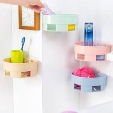 強力黏貼壁掛瀝水收納架 廚房浴室置物架 免釘免打孔【AE04255】