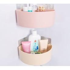 浴室魔術貼三角置物架 廚房收納架瀝水角架【AE04253】