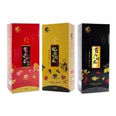 良膳之嘉-漢方養生茶飲系列 杞菊明采金茶/雙花仙姿紅茶/首烏胡麻黑茶 (通過國家認證)