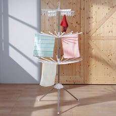 概念家居|多功能摺疊晾曬架 32支毛巾架 不鏽鋼桿 落地三層架 陽台浴室架【E-OX】