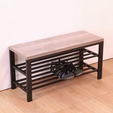 概念家居 白樺淺木紋穿鞋椅 收納櫃 換鞋凳 穿鞋凳 玄關 二層鞋架【BB05】 - 穿鞋椅