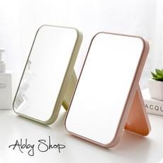 北歐風✨ 高清單面化妝鏡子 折疊簡易梳妝鏡 檯式化妝鏡 歐式鏡子 化妝鏡 梳妝鏡 桌鏡 立鏡 鏡子